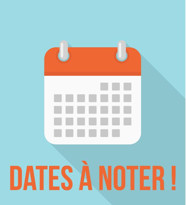 Quelques dates importants à noter dans vos agendas : rdv d'inscription lancés, la fête des plantes et les portes ouvertes…