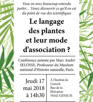 Conférence : Le langage des plantes et leur mode d'association
