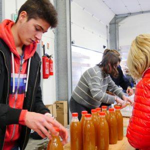 Vente de jus de pommes frais