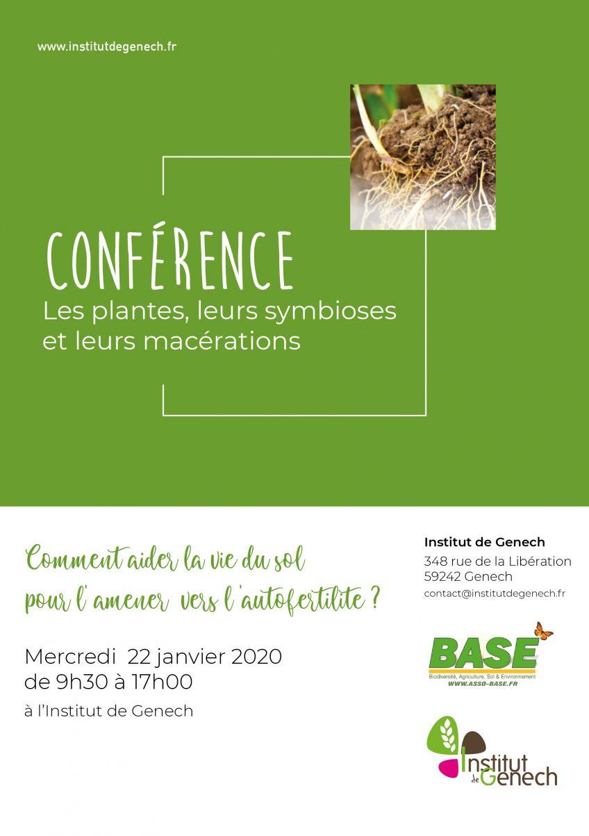 Conférence – Les plantes, leurs symbioses, et leurs macérations
