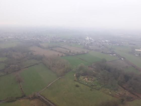 vue prise d'un hélicoptère