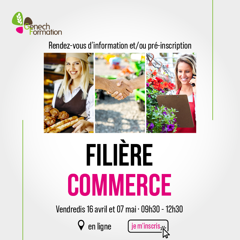 Information – filière commerce – Alternance