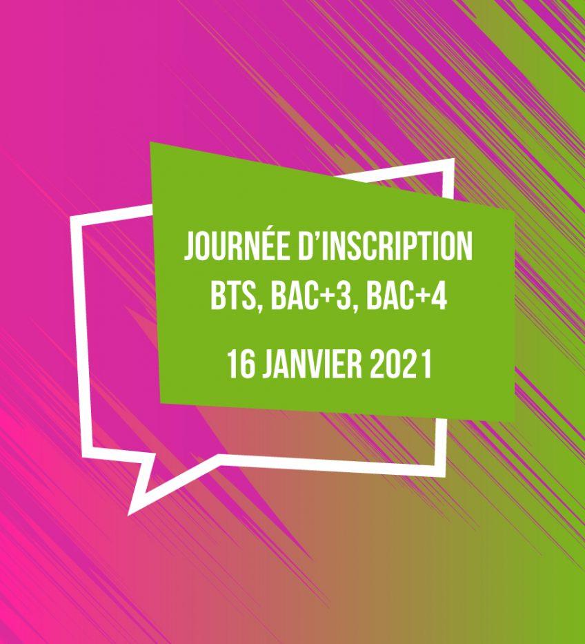 Journée d'inscription et d'information pour les BTS, Licences et Bac+4