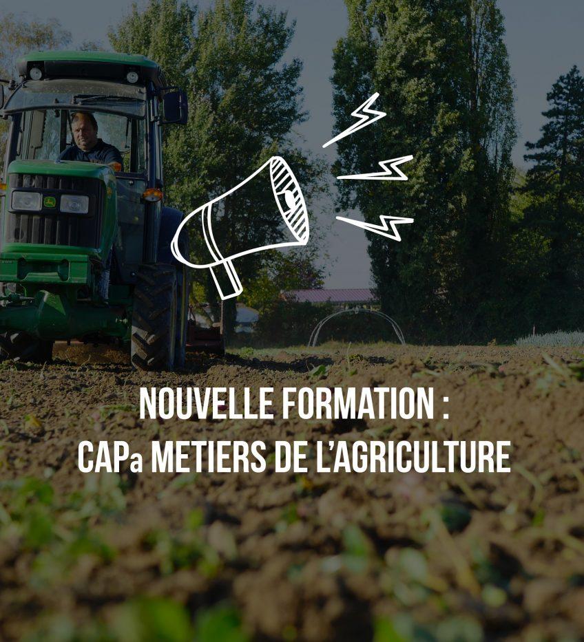 Nouvelle formation : CAPa Métiers de l'agriculture