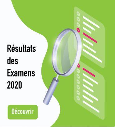 Résultats des examens 2020